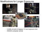 modifications for longer exposures