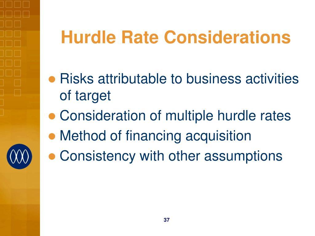 Hurdle Rate Considerations