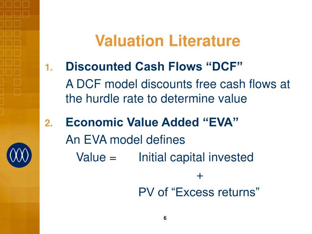 Valuation Literature