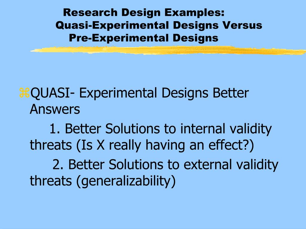 Generalizability in research example