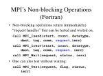 mpi s non blocking operations fortran
