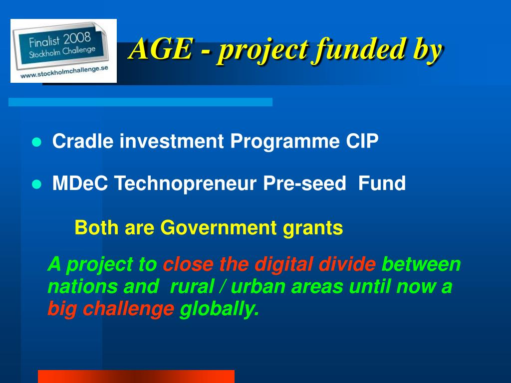 AGE - project funded by