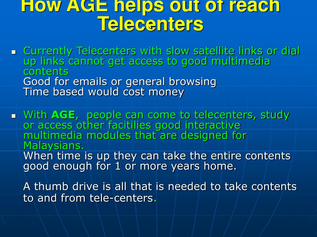 How AGE helps out of reach