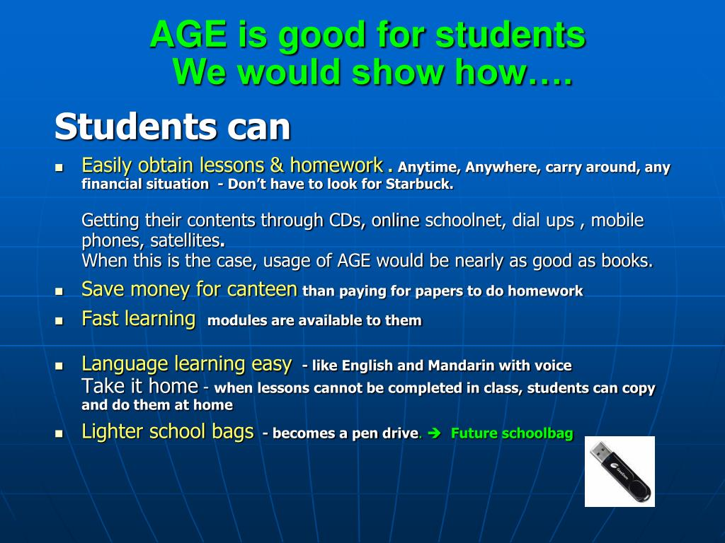 AGE is good for students
