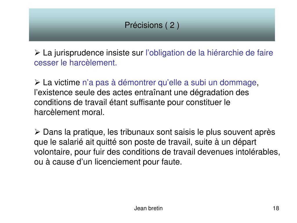 Précisions ( 2 )