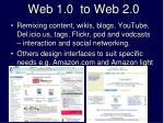web 1 0 to web 2 0