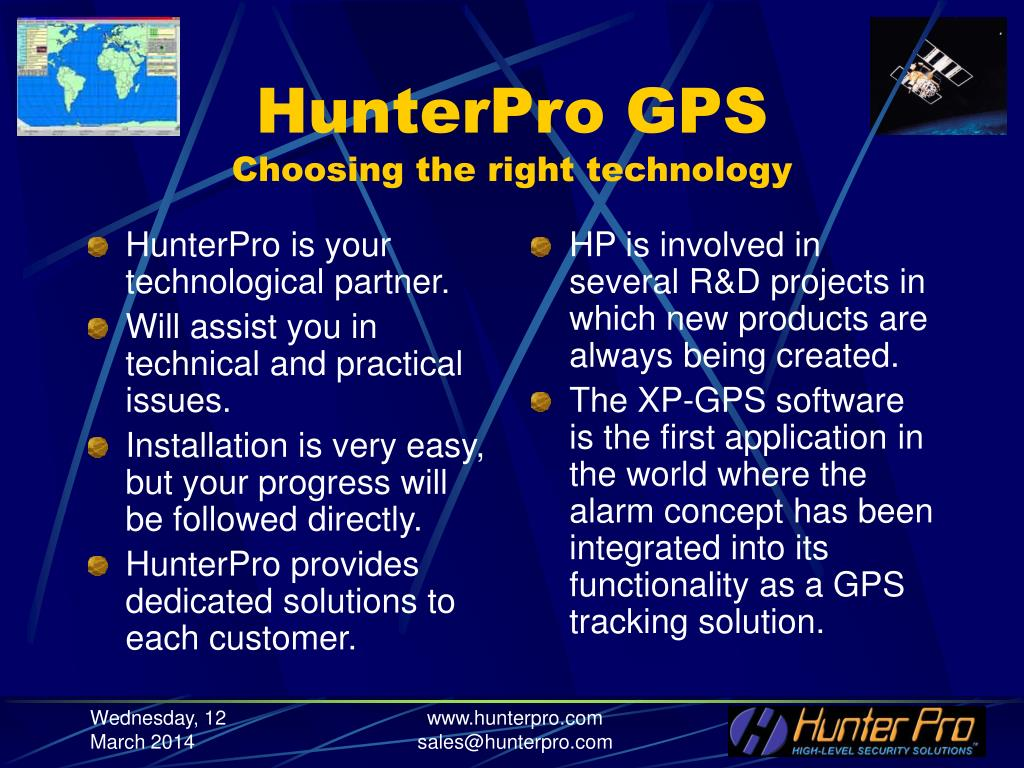 HunterPro is your technological partner.