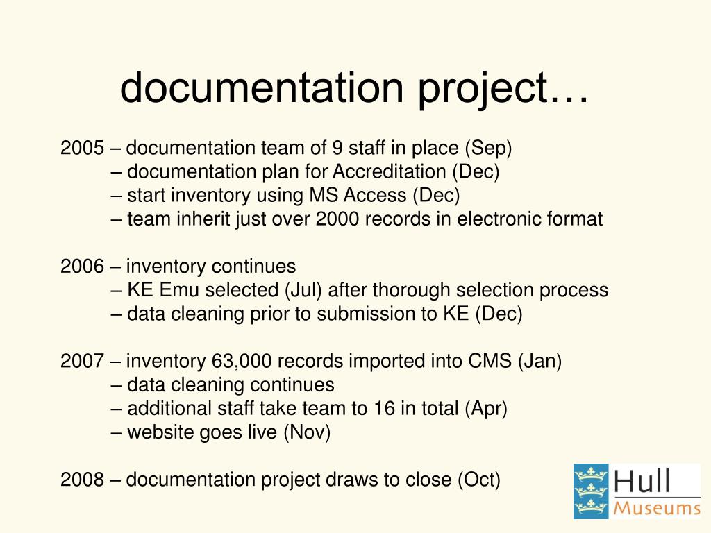 documentation project…
