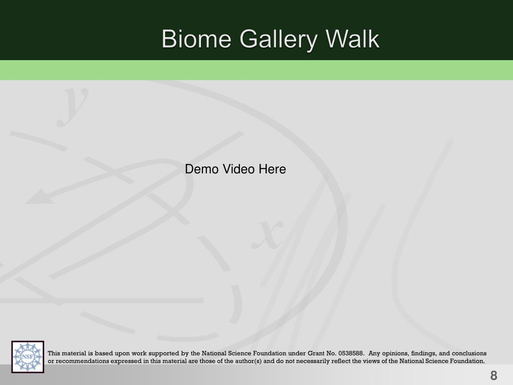 Biome Gallery Walk