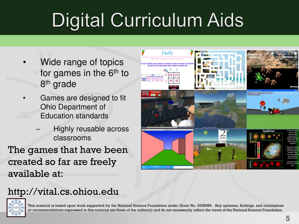 Digital Curriculum Aids