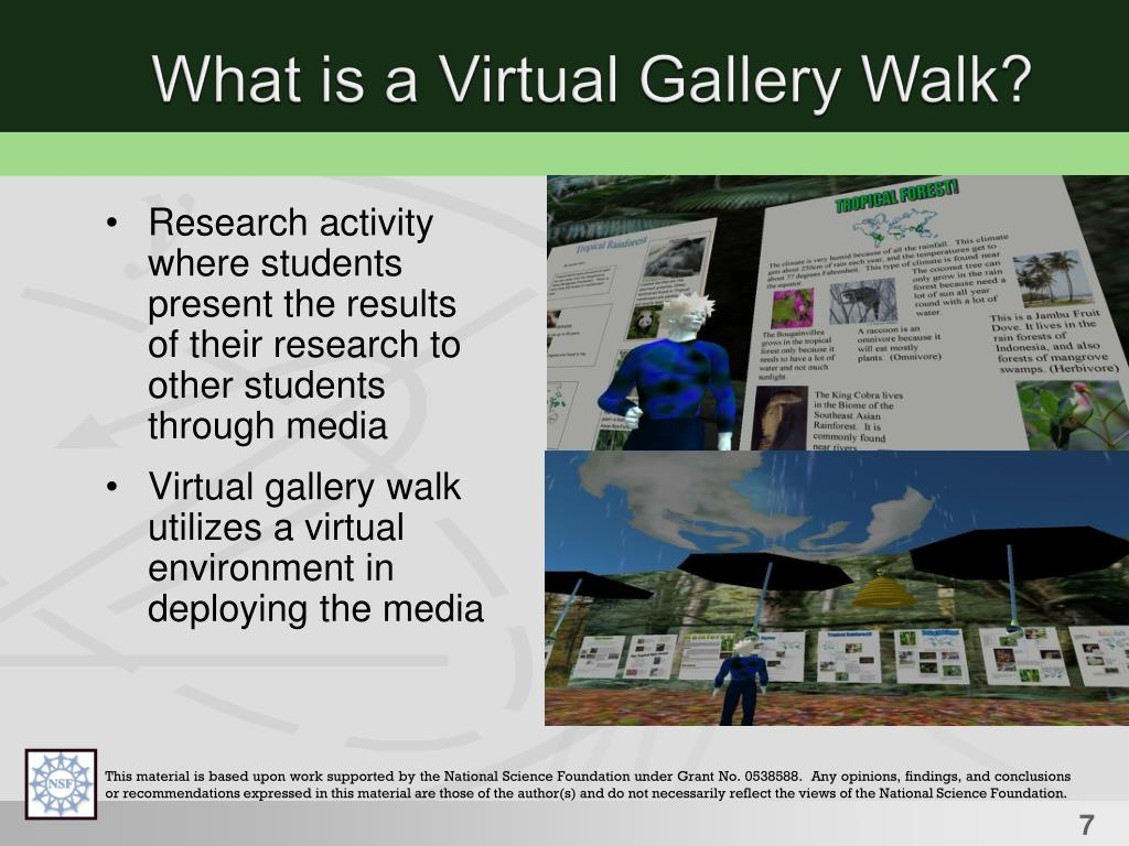 What is a Virtual Gallery Walk?
