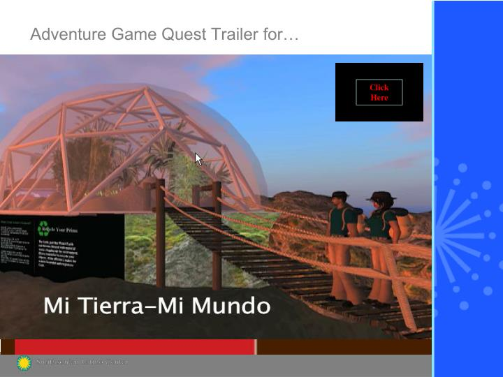 Adventure game quest trailer for
