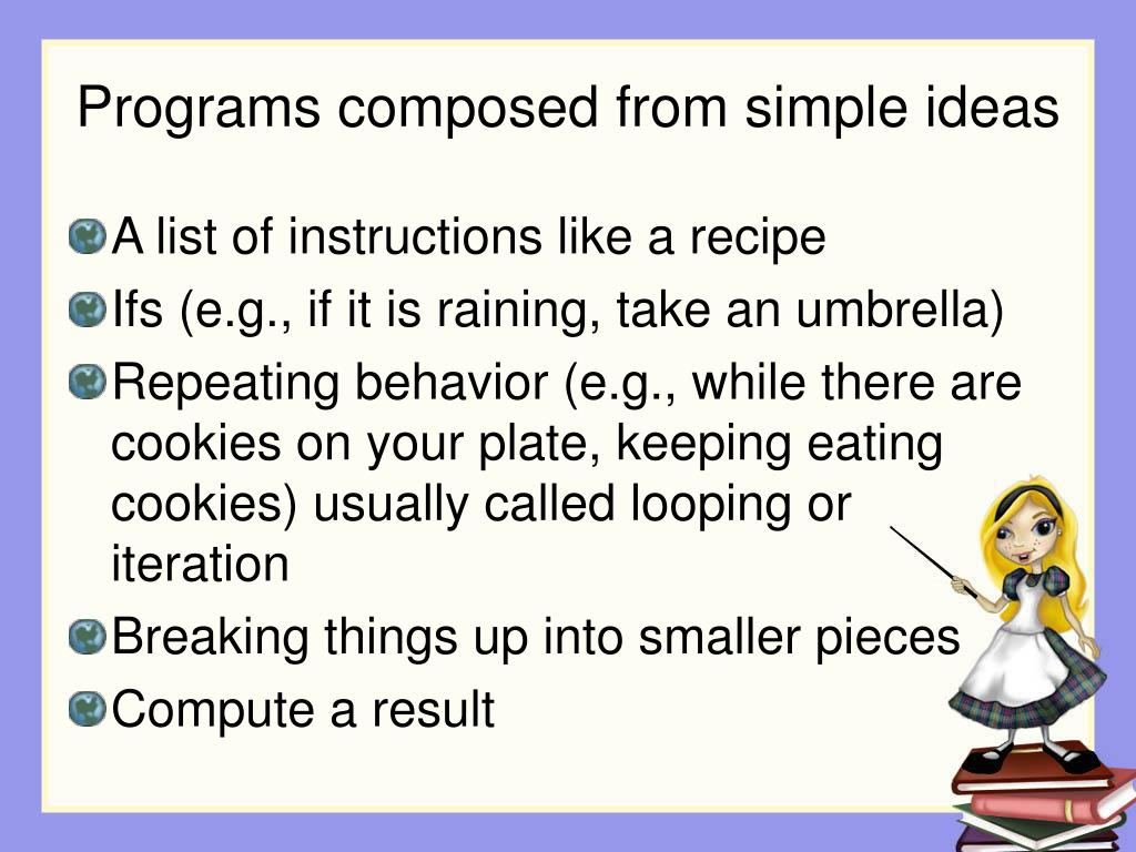Programs composed from simple ideas