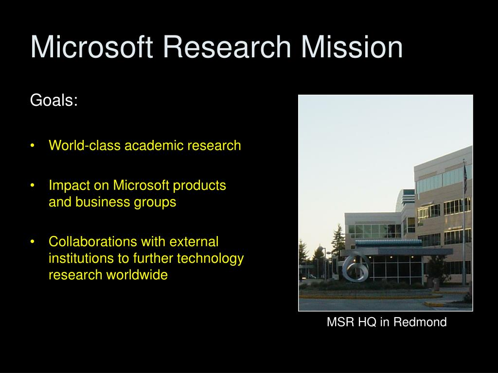 Microsoft Research Mission