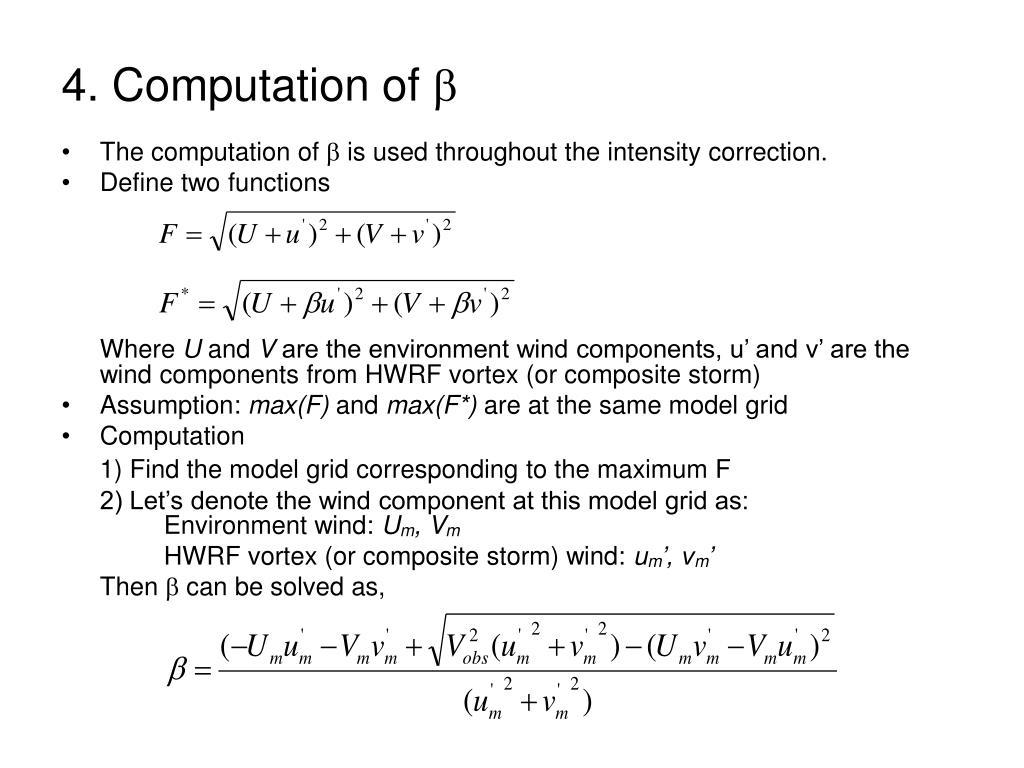 4. Computation of