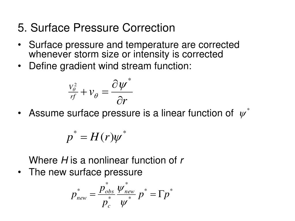 5. Surface Pressure Correction