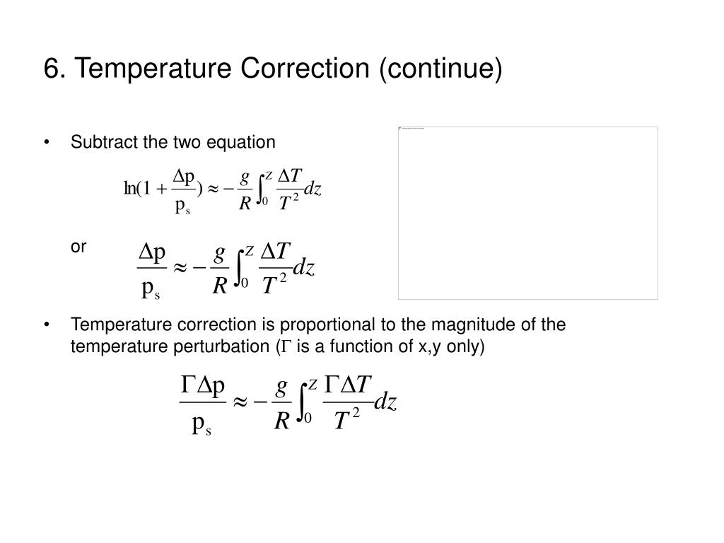 6. Temperature Correction (continue)