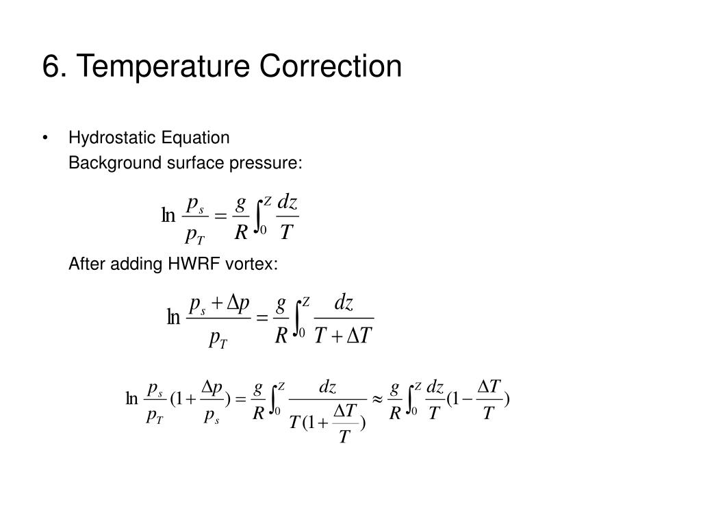 6. Temperature Correction