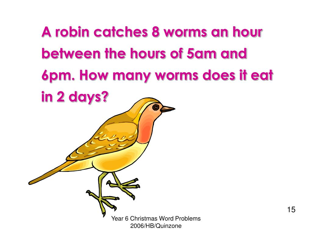A robin catches 8 worms an hour between the hours of 5am and 6pm. How many worms does it eat in 2 days?