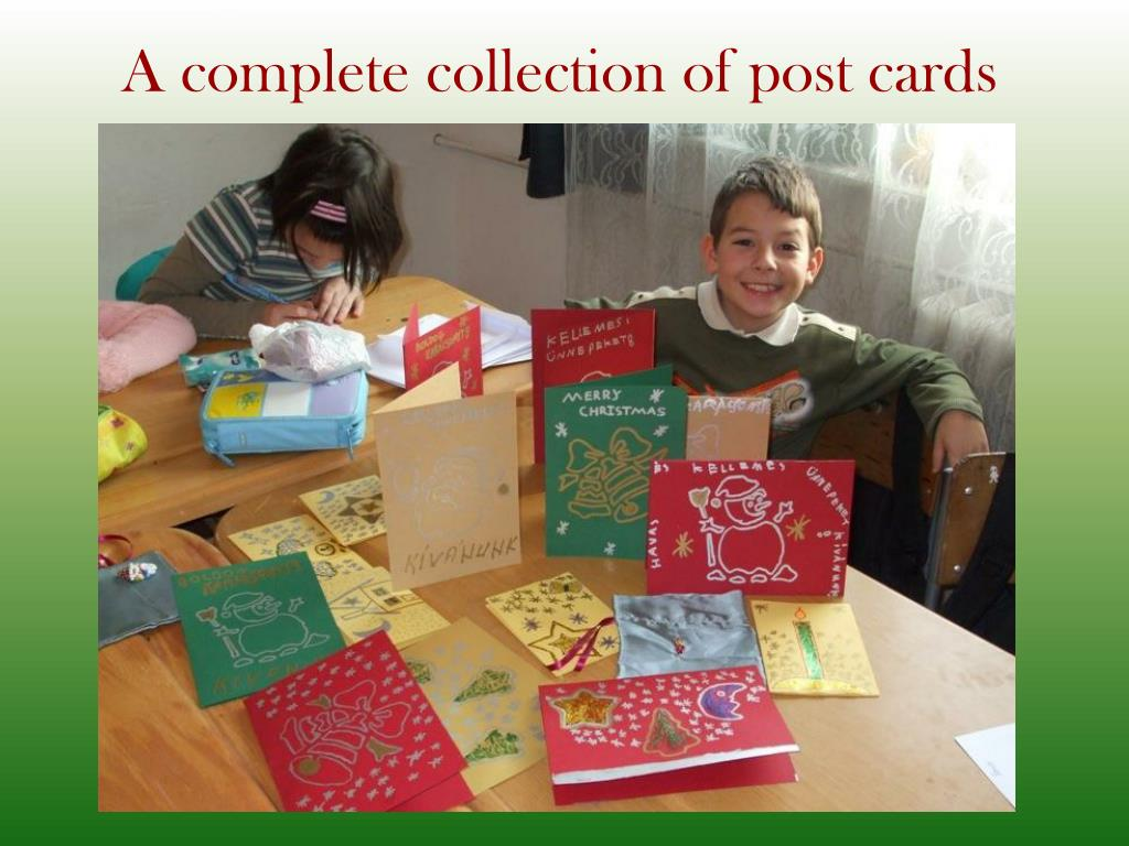 A complete collection of post cards