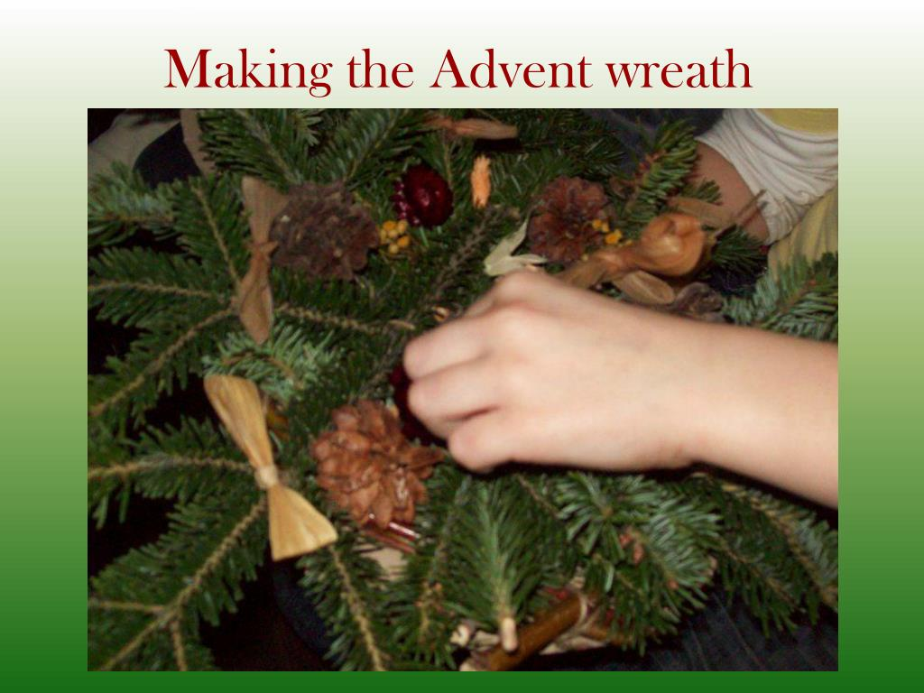 Making the Advent wreath