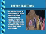 church traditions