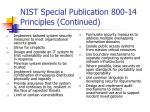 nist special publication 800 14 principles continued