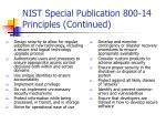 nist special publication 800 14 principles continued19