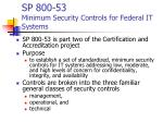sp 800 53 minimum security controls for federal it systems
