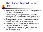 the human firewall council smi