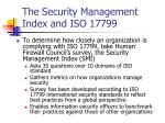 the security management index and iso 17799