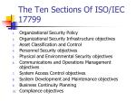 the ten sections of iso iec 17799