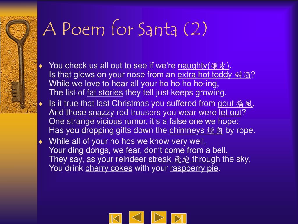 A Poem for Santa (2)