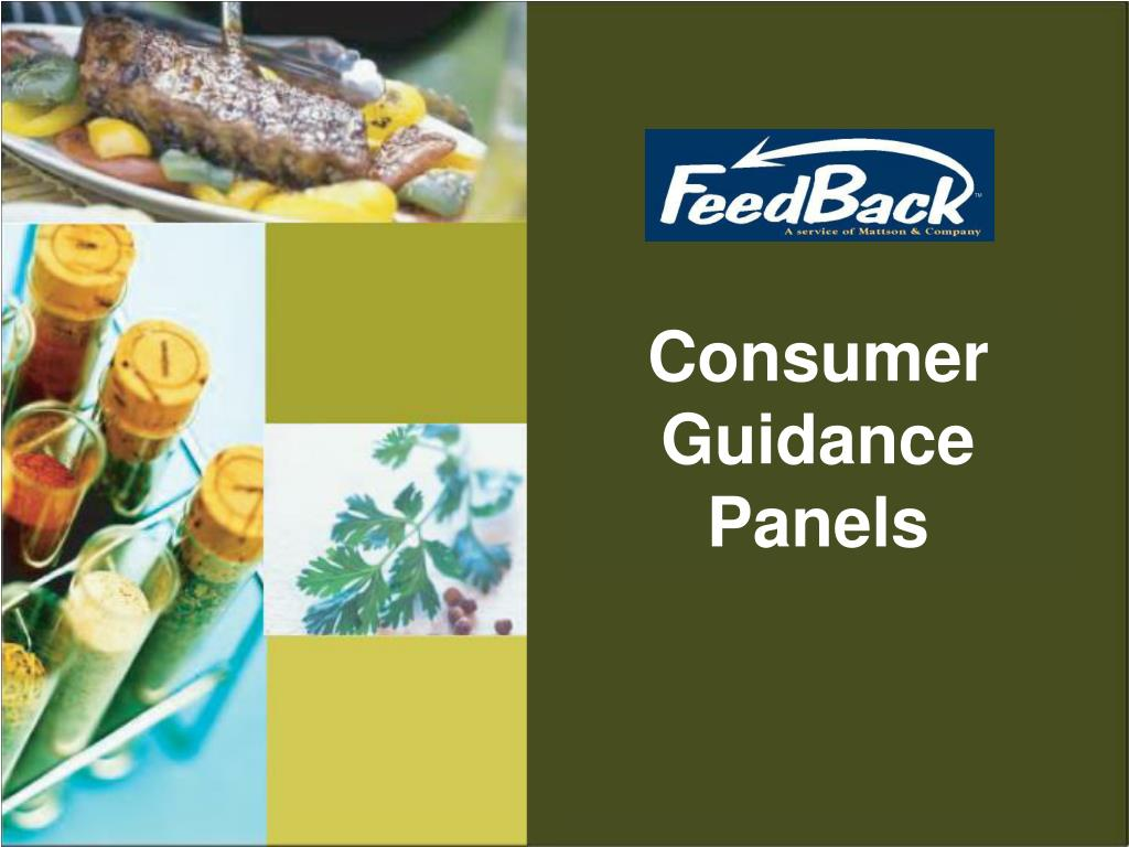 Consumer Guidance Panels