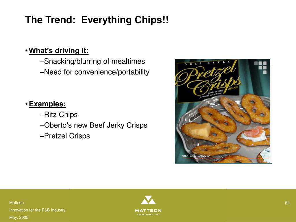 The Trend:  Everything Chips!!