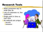 research tools