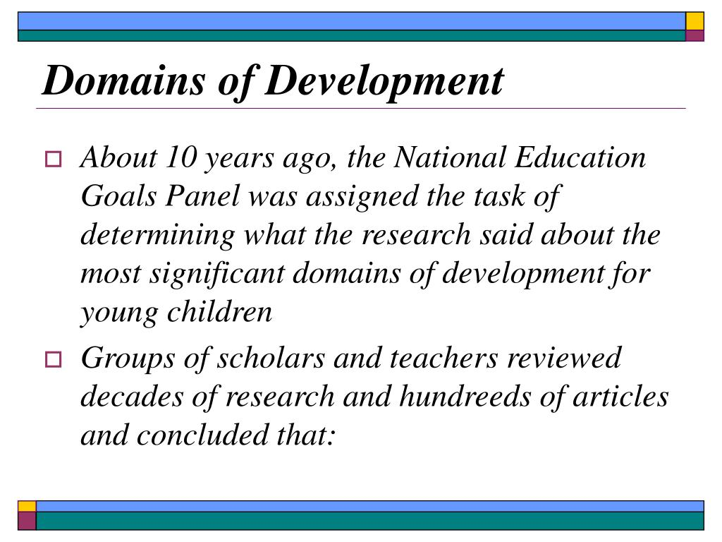 Domains of Development