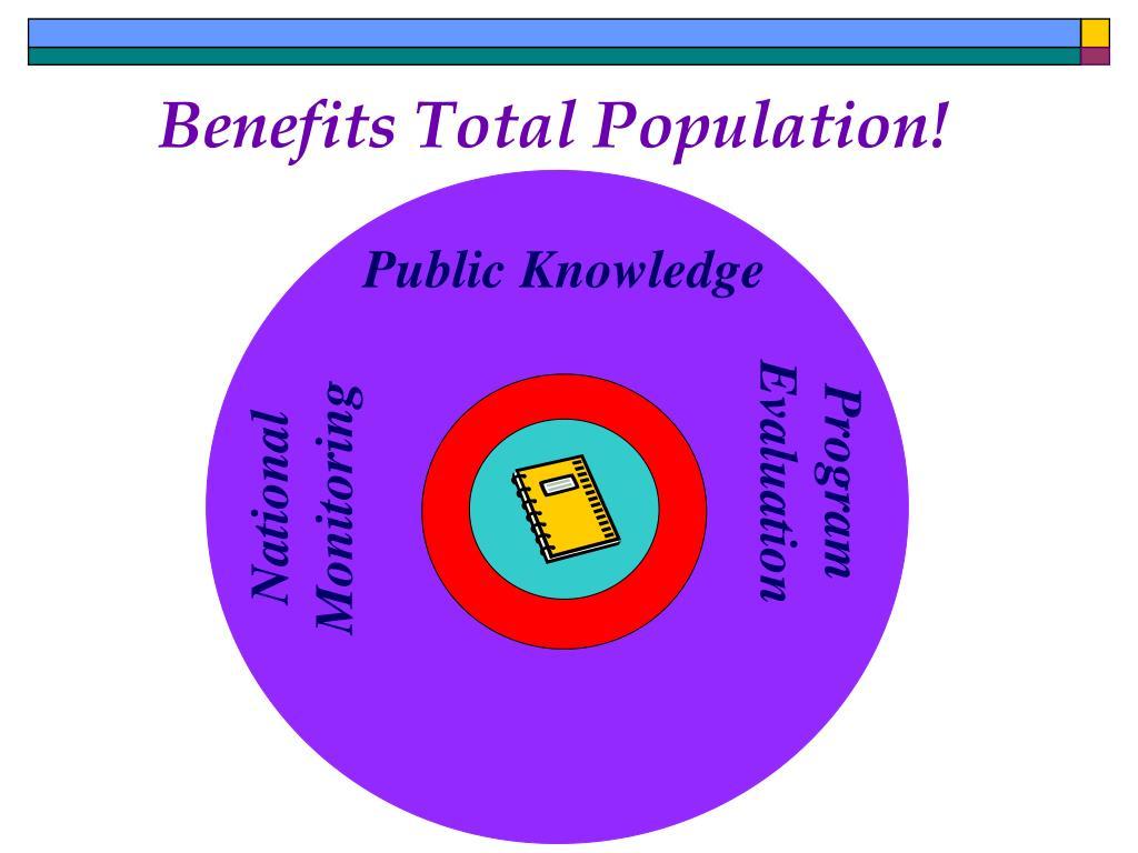 Benefits Total Population!
