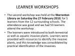 learner workshops