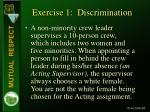 exercise 1 discrimination