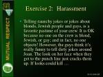 exercise 2 harassment