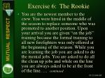 exercise 6 the rookie