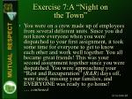exercise 7 a night on the town