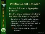 positive social behavior