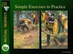 simple exercises to practice
