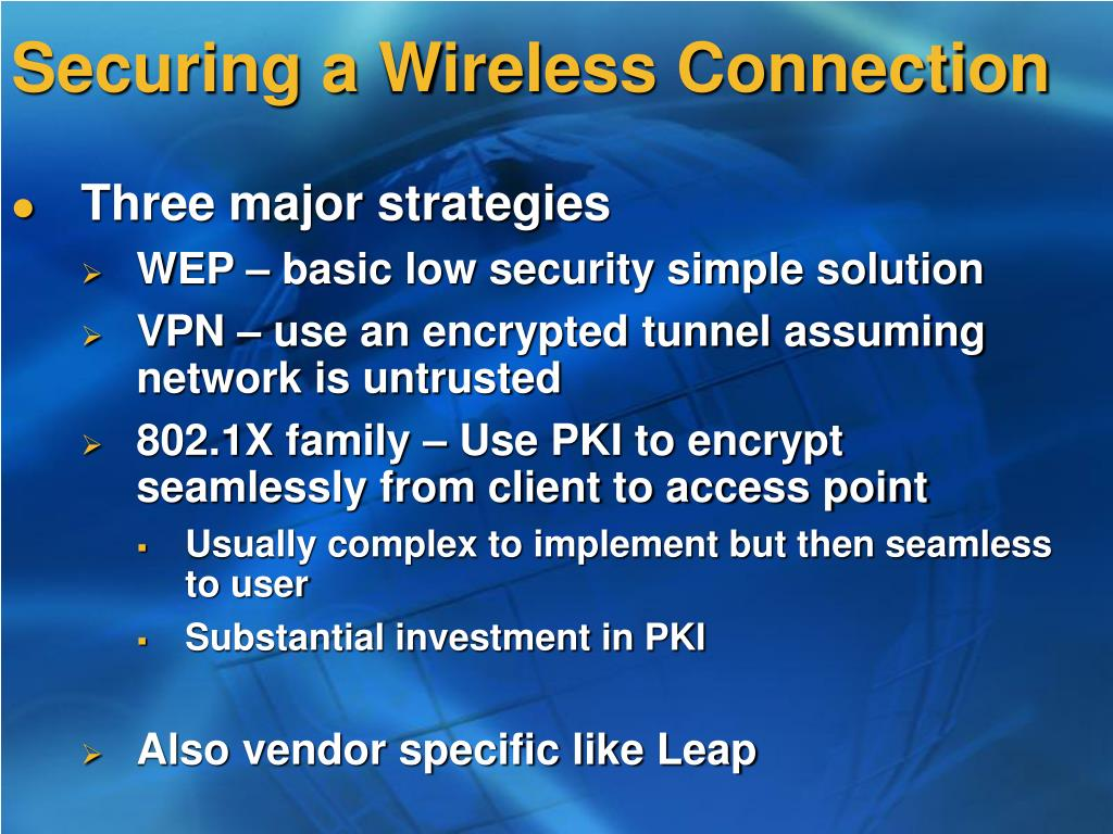 Securing a Wireless Connection