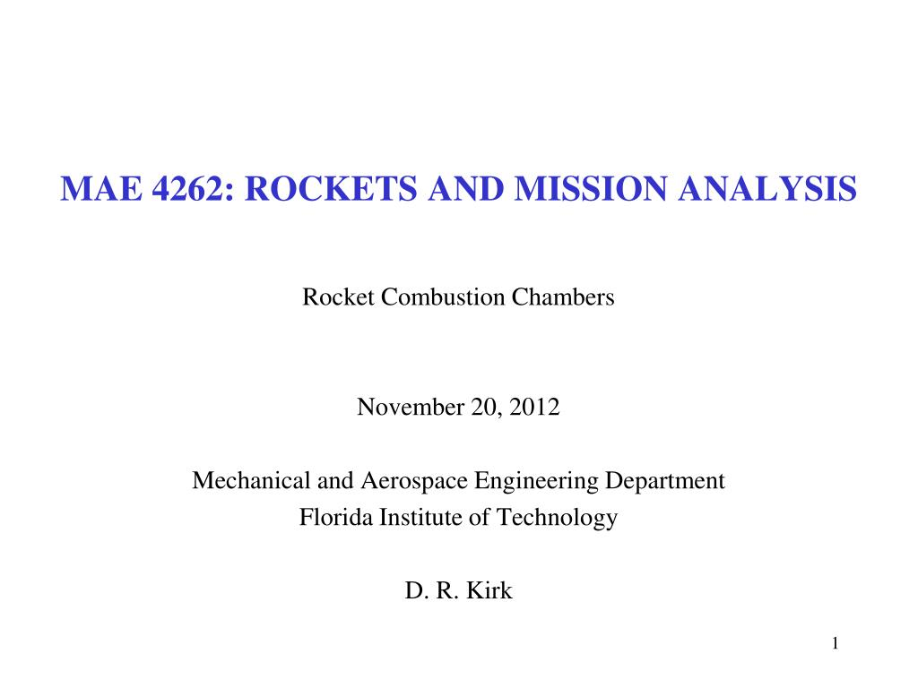 mae 4262 rockets and mission analysis