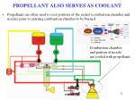 propellant also serves as coolant