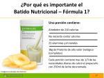 por qu es importante el batido nutricional f rmula 1