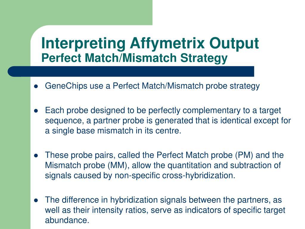 Interpreting Affymetrix Output